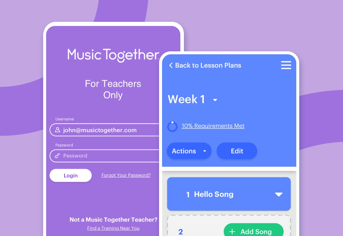 Music Together's mobile site for teachers