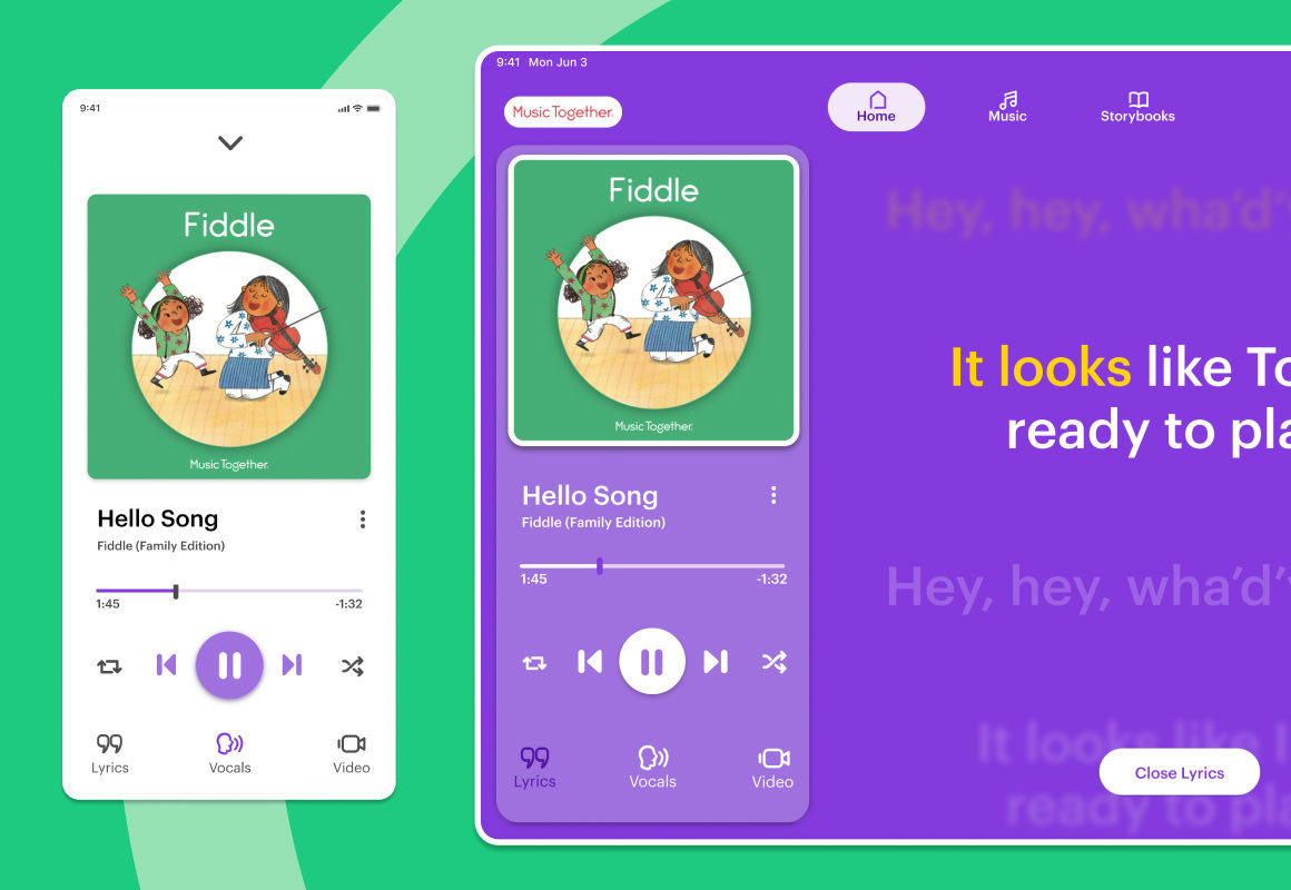 Music Together iPhone and iPad App Mockup
