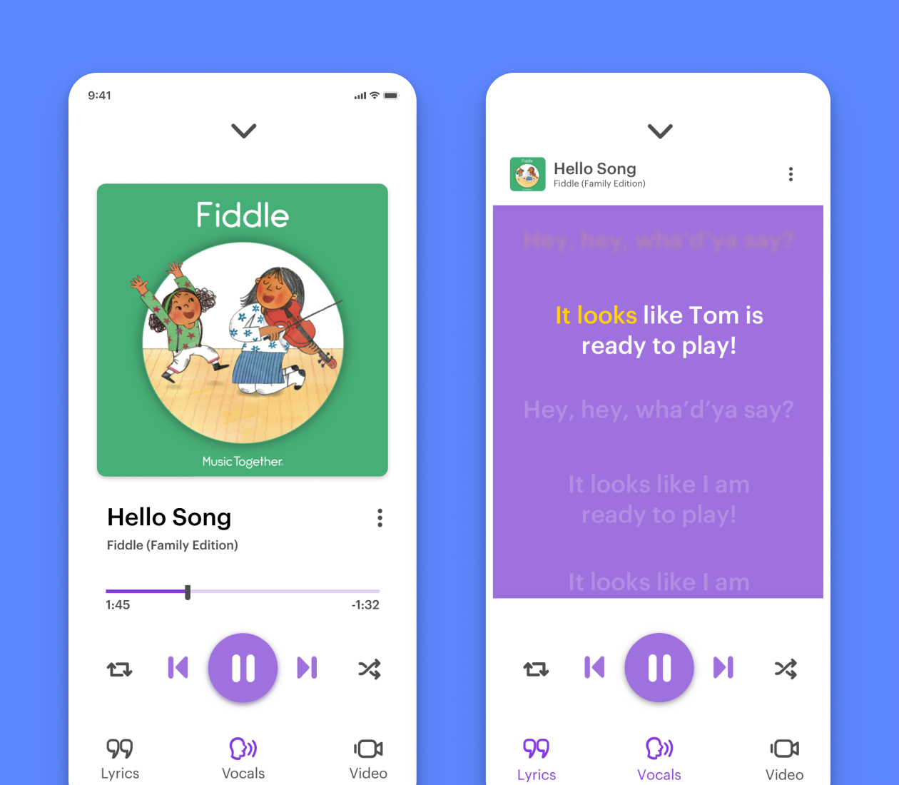 Music Together iPhone Music Player Screens